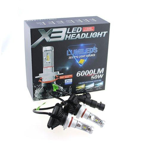Набір світлодіодного головного світла UP-X3HL-H11W-6000LM (H11, 6000 лм, холодний білий) Прев'ю 2