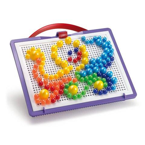 Набір для занять мозаїкою Quercetti (фішки 10/15/20 мм (160 шт.) + дошка 22×16) Прев'ю 1